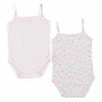 Cherry Baby Girl Rope Strap 2 Pack Bodysuits