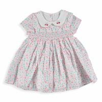 Cherry Baby Girl Petter Pan Collar Dress