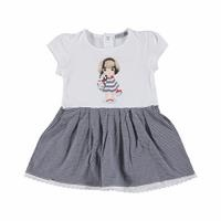 Summer Striped Printed Baby Girl Dress