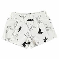 Origami Patterned Baby Girl Pleated Shorts