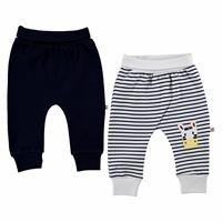 Zebra Embroidered Baby Boy Footless Trousers 2 pcs