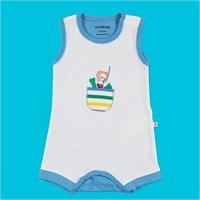 Colored Printed Baby Boy Short Romper