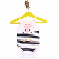 Striped Baby Girl Rope Strap Bodysuit