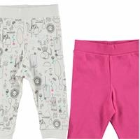 Baby Girl Footless Trousers 2 Pack