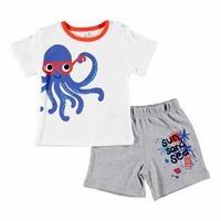 Erkek Bebek Eğlenceli Yaz Ahtapot Tshirt