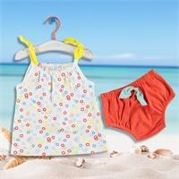 Kız Bebek Eğlenceli Yaz İp Askılı Bluz