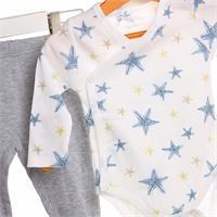 Bebek Yıldız Metraj Baskılı Zıbın Body Patikli Alt