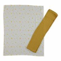 2-Piece Muslin Blanket 75X90 Yellow Star