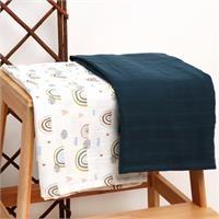 2-Piece Muslin Blanket 75X90 Rainbow