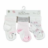 Pamuklu 3lü Bebek Çorap
