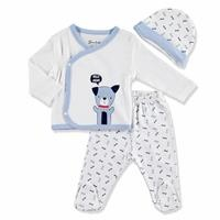 Summer Baby Boy Hello Mum Bodysuit Hat Pant 3 pcs Set