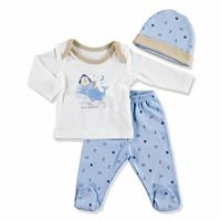 Summer Baby Boy Mini Dreamer Bodysuit Hat Pant 3 pcs Set