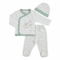 Summer Baby Boy Sport Rabbit Bodysuit Hat Pant 3 pcs Set