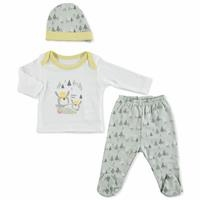 Summer Baby Boy Daddy Time Bodysuit Hat Pant 3 pcs Set
