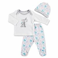 Summer Baby Girl Roboticorn Bodysuit Hat Pant 3 pcs Set