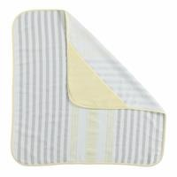 Cotton Baby Towel Gray Striped