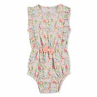 Tropical Summer Baby Girl Ruffled Bodysuit