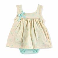 Sarı Yaz Kız Bebek Askılı Elbise Body
