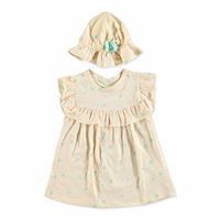 Yellow Summer Baby Girl Dress Hat