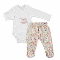 Tropical Summer Baby Girl Bodysuit Pants Set