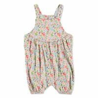 Tropical Summer Baby Girl Dungarees