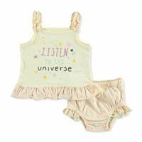 Yellow Summer Baby Girl Shirt Panty Set