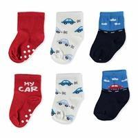 Summer Baby Boy Six Printed My Car Cotton Socks 2 pcs