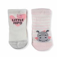 Kız Bebek Simli Little Hipo Pamuklu 2li Soket