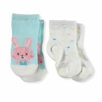 Baby Girl Bearded Rabbit Cotton 2-Piece Socket
