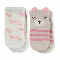 Baby Girl 3D Bear Love Cotton 2 Pcs Socket
