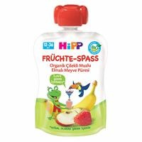 Organic with Apple Banana Strawberries Fruits 90 gr