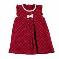 Kış Kız Bebek Masal Fırfır Yaka Fiyonk Detaylı Kolsuz Elbise