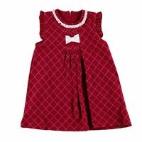 Tale Baby Ruffled Collar Bow Detail Sleeveless Dress