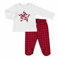 Tale Baby Ruffled Collar Baby Sweatshirt Footed Pants Set 2pcs