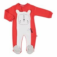 Lion Baby Footed Romper