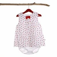 Baby Girl Lady Poplin Dress Bodysuit
