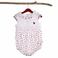 Baby Girl Lady Poplin Ruched Bodysuit