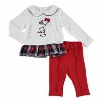 Baby Plaid Shirt Leggings 2 pcs Set