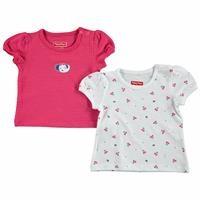 Yaz Kız Bebek Tatlı Kiraz 2li Tshirt