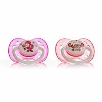 Baby Silicone Soothers 2 pcs 5-18 Months - Girl