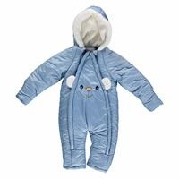 Winter Eared Baby Boy Welsoft Lined Astronaut Snowsuit Romper