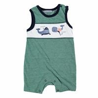 Whale Baby Boy Sleeveless Short Romper