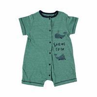 Whale Baby Boy Short Sleeve Short Romper