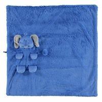 Fil 2D Pelüş Battaniye Koyu Mavi 75x75