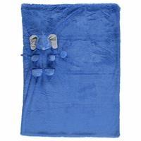 Elephant 2D Plush Baby Blanket Dark Blue 80x100 cm