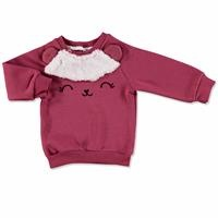 Wellsoft Detail 3D Eared Printed Baby Girl Sweatshirt