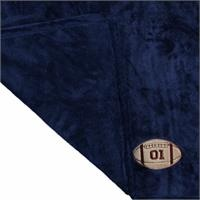 Multipurpose Embroidered Baby Blanket 80x90 cm - Navy Blue