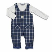 Baby Pocket Detail Embroidered Dungarees Sweatshirt Set 2pcs
