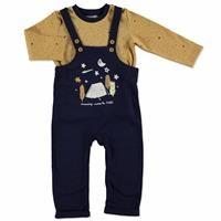 Erkek Bebek Gökyüzü Salopet Sweatshirt 2Li Takım