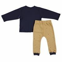 Erkek Bebek Gökyüzü Önden Çıtçıtlı Sweatshirt Tek Alt 2Li Takım